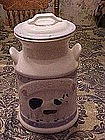 Milk Can cookie jar with cow