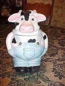 Farmer Bull / Cow cookie jar