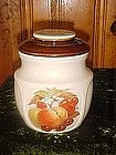 McCoy panel cookie jar with fruit decal design