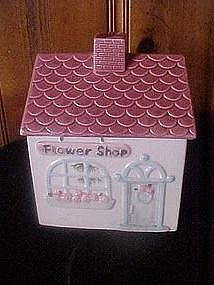 Flower shop, cookie  jar