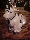Delft style sitting cow creamer