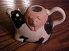 Ceramic cow & pig cream pitcher