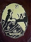 The Love letter, Chalk silhouette wall plaque 1936