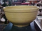 Old yellow ware mixing bowl