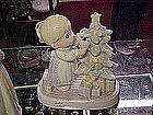 Precious Moments  porcelain Christmas lamp / light