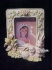 Spring rabbits and flowers, picture frame