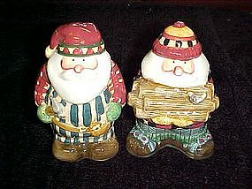 Lumberjack Santa salt and pepper shakers