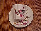 Royal Dover bone china tea cup and saucer w roses