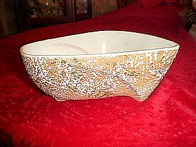 Van Nuys pottery dish dated 1958, sponge relief