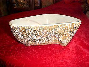 Van Nuys pottery dish dated 1958, sponge relief
