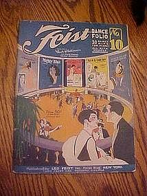 Feist dance music folio #10 for piano, 30 Hits, 1925