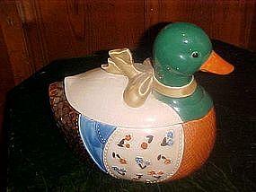 Country  Mallard Duck cookie Jar
