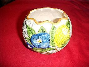 Fleurs Bu Jardin hand painted rose bowl, or ivy vase