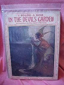 I found a rose in the devil's garden, 1921 sheet music