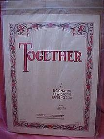 Together, sheet music, DeSylva Brown & Henderson