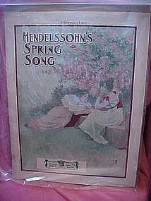 Mendlessohn's Spring song, sheet music 1912