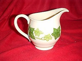 Franciscan ivy pattern, cream pitcher