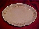 Homer Laughlin platter Hudson shape with pink roses