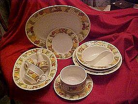 Metlox Vernon ware, Della Robbia, dinnerware pieces