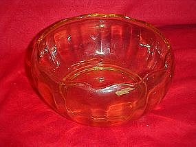 "Fostoria Fairfax  7""  topaz  yellow bowl"