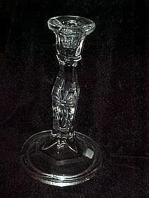 Heisey candlestick with flower cutting