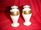 Lenox gold and white  fine china salt and pepper shaker