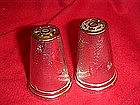 Silver look, vintage wheat salt and pepper shakers