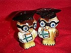 Wise owl salt and pepper shaker set, by Bradley