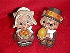 Hallmark Chipmunk pilgrims, salt and pepper shakers
