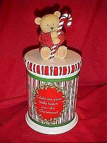 Hallmark Christmas bear cookie jar