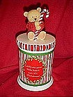 Hallmark Christmas bear cookie jar
