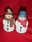 Snowmen, salt and pepper shakers