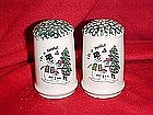 Singing snowman family, salt and pepper shakers