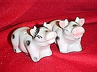 Cow salt and pepper shaker set
