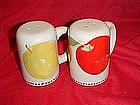Red and yellow apples design, salt and pepper shakers