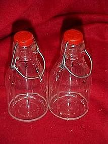 Plastic bottles, salt and pepper shakers