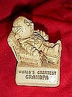Sillisculpt  sentiment figure, World's greatest Grandpa