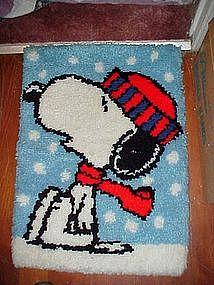 Peanuts' Snoopy Rug, wall hanging