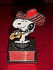 Snoopy plastic trophy statue, I can't stop loving You