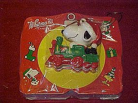 Whitmans Candies and Snoopy Christmas ornament pkg