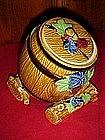 Vintage Japan Wine keg / barrel cookie jar