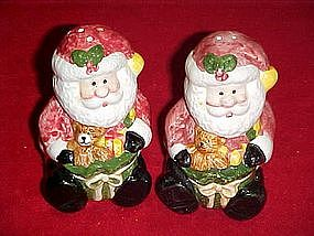 Santa with toys, salt and pepper shakers