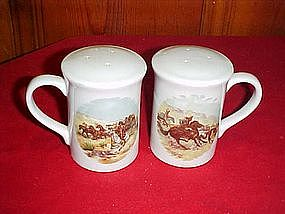 Remington, cowboy and Indians  salt and pepper shakers