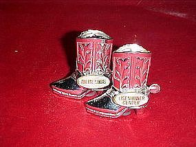 Metal cowboy boots, Eisenhower Center souvenir shakers