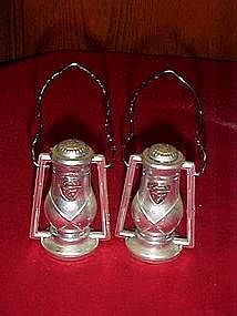 Plastic lantern salt and pepper shakers, Iowa souvenir