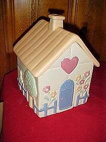 Treasure craft quilted house cookie jar