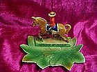 Napco Canadian Mountie on a horse ashtray, souvenir