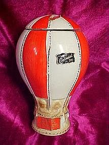 O.B.R. hot air balloon  whiskey decanter 1969