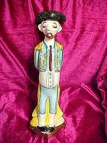 Vintage beatnick style Matador decanter, Mexico, RARE