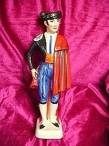 Vintage matador, bullfighter decanter from Spain